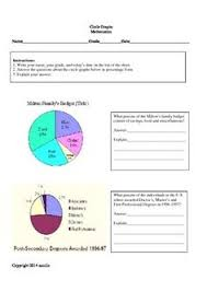 5th grade math worksheets interpreting circle graphs circle