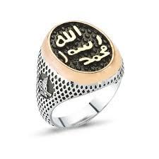 silver ring for men islam factory direct custom desgin stainless steel turkish silver men