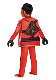 ninja halloween costume kids ninjago kai deluxe costume for boys