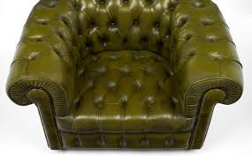 Leather Club Chair Vintage Chesterfield Green Leather Club Chair Jean Marc Fray