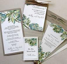 succulent wedding invitations kawaiitheo