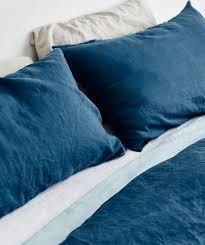 light blue linen pillowslip set