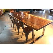 U Shaped Table Legs Natural Solid Wood Live Edge Table For Montreal Toronto Canada