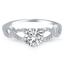 infinity diamond ring 14k white gold infinity diamond engagement ring