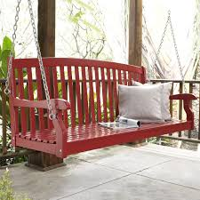 Swing Patio Furniture Coral Coast Pleasant Bay White Curved Back Porch Swing With