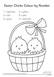 Easter Decorations To Print And Color by Colour By Number Pages For Kids