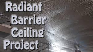 reflectix bubble foil radiant barrier garage ceiling project