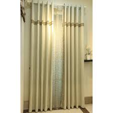 mustard yellow and gray patterned modern long room divider curtains