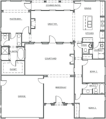 house plans with courtyard luxury patio home plans new patio home plans house floor with rear