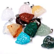 turquoise opal yumten smile buddha crystal pendant classic overwatch natrual