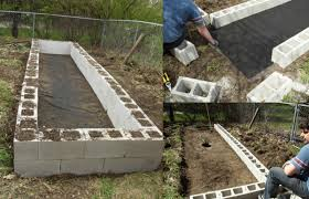 how to build a diy raised garden bed with cinder blocks