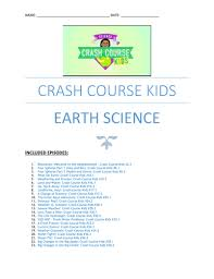 crash course kids earth science youtube questions worksheets 23