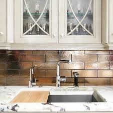 metallic kitchen backsplash silver metallic backsplash tiles design ideas