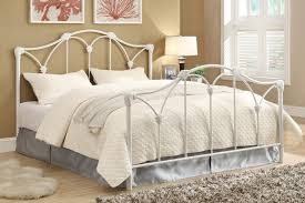 White Metal Bed Frame White Metal Queen Headboard 35 Awesome Exterior With Iron Queen
