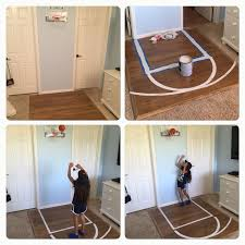 bedroom basketball court half court kids room ideas diy left