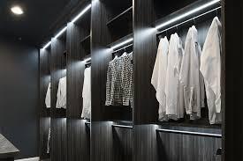 home interior luxury walk in closet decor idea with recessed led