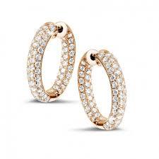 gold diamond earrings gold diamond earrings 2 15 carat diamond creole baunat