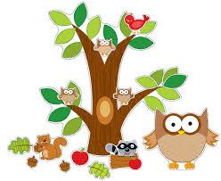 Owl Theme by Amazon Com Carson Dellosa Owl Bulletin Board Set 110137 Carson
