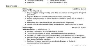 Trained New Employees On Resume Fast Food Sample Resume Server Resume Example Updated Some Resume