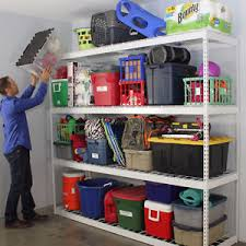 Garage Shelving System by Saferacks 4 Tier Free Standing Shelving Unit Garage Storage System