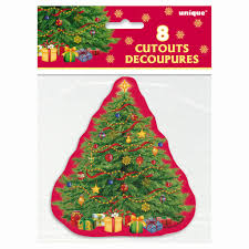 starry christmas tree cutout decorations christmas party decorations