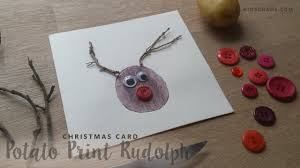 christmas crafts potato print rudolph the red nosed reindeer youtube