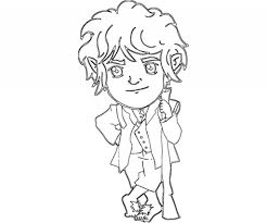 the adventurous bilbo baggins from the hobbit coloring page