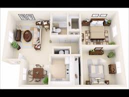 50 two bedroom apartment house plans in 3d perspective youtube