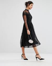 frock and frill embellished dress with tassel hem frock and frill