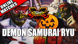 demon samurai ryu halloween costume street fighter 5 w mods