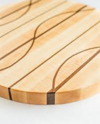 Unique Cutting Boards by Round Wavy Maple Edge Grain Cutting Board 15 5
