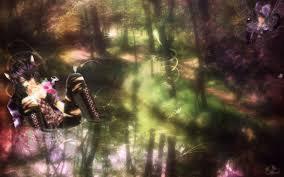 cat u0027s fairy forest wallpaper by maerin art on deviantart