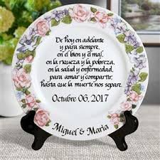personalized wedding plate wedding vow personalized plate with flower wreath design