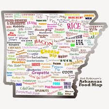 Where I Ve Been Map The Arkansas Food Map Tie Dye Travels With Kat Robinson