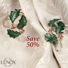 Lenox Home Decor Lenox Holiday Napkin Ring Set Of 4