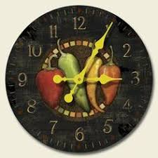 Chili Pepper Kitchen Decorating Themes - chili pepper decor chili peppers wall clock rustic texas home