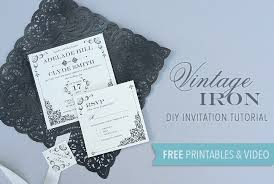 wedding invitations free diy tutorial free printable vintage iron wedding invitation and