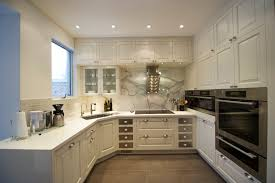 kitchen breathtaking shaped design decor ideas white kitchen shaped design without island using stained cabinet and marble
