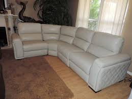 Electric Leather Sofa Macy U0027s Jessi Quilted Side Argento Leather Dual Electric Reclining