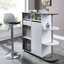 table cuisine 2 personnes table bar 2 personnes style contemporain décor blanc et béton