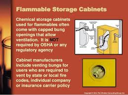 flammable storage cabinet grounding requirements compliance with flammable and combustible liquids