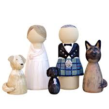 wedding cake topper with dog groom and dog wedding cake topper peg doll lotty lollipop