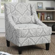 Gray And White Accent Chair Grey And White Pattern Accent Chair Coaster Furniture Furniture Cart