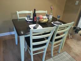 vintage butcher block dining table and chairs 4 decofurnish
