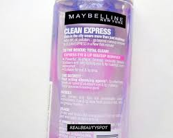 maybelline clean express total clean makeup remover review claims a bi phase makeup remover that cleans all type of makeup without leaving a