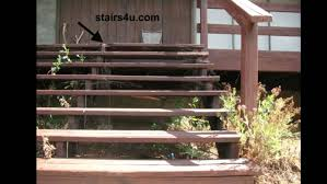 how to build outdoor wooden steps staircase with landing deck