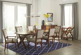Urban Dining Room Table - klaussner simply urban 7 piece manhattan dining room set in brown