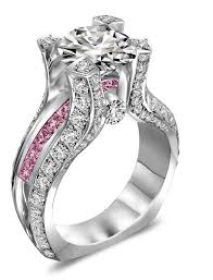 pink wedding rings 42 best wedding bands images on rings diamond