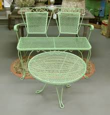 Wrought Iron Patio Furniture Set by Possible Color For Repainting Our Wrought Iron Patio Furniture