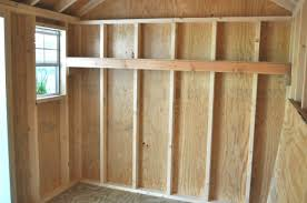 Wood Storage Shelves Plans by How To Build Shed Storage Shelves One Project Closer